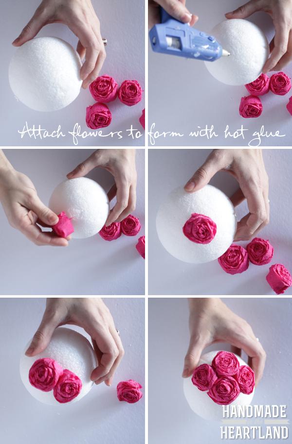 diy tissue paper roses