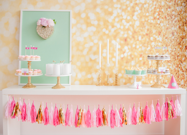 Little Big Company The Blog: A Gold Glitter  Hot Pink 30th birthday by Kendra Plastow Event Styling
