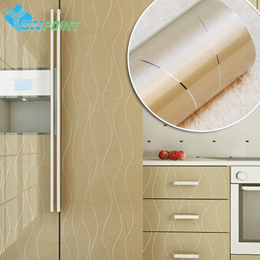 [Visit To Buy] Furniture Renovation Stickers DIY Decorative Film Self  Adhesive Wall Paper Kitchen