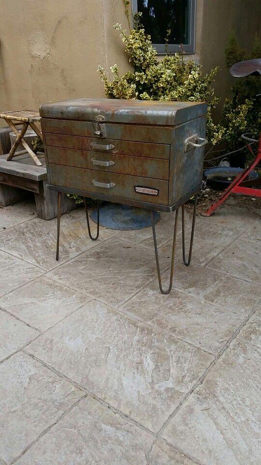 Old tool box with custom stand  https://www.etsy.com/shop/BGrayCustom