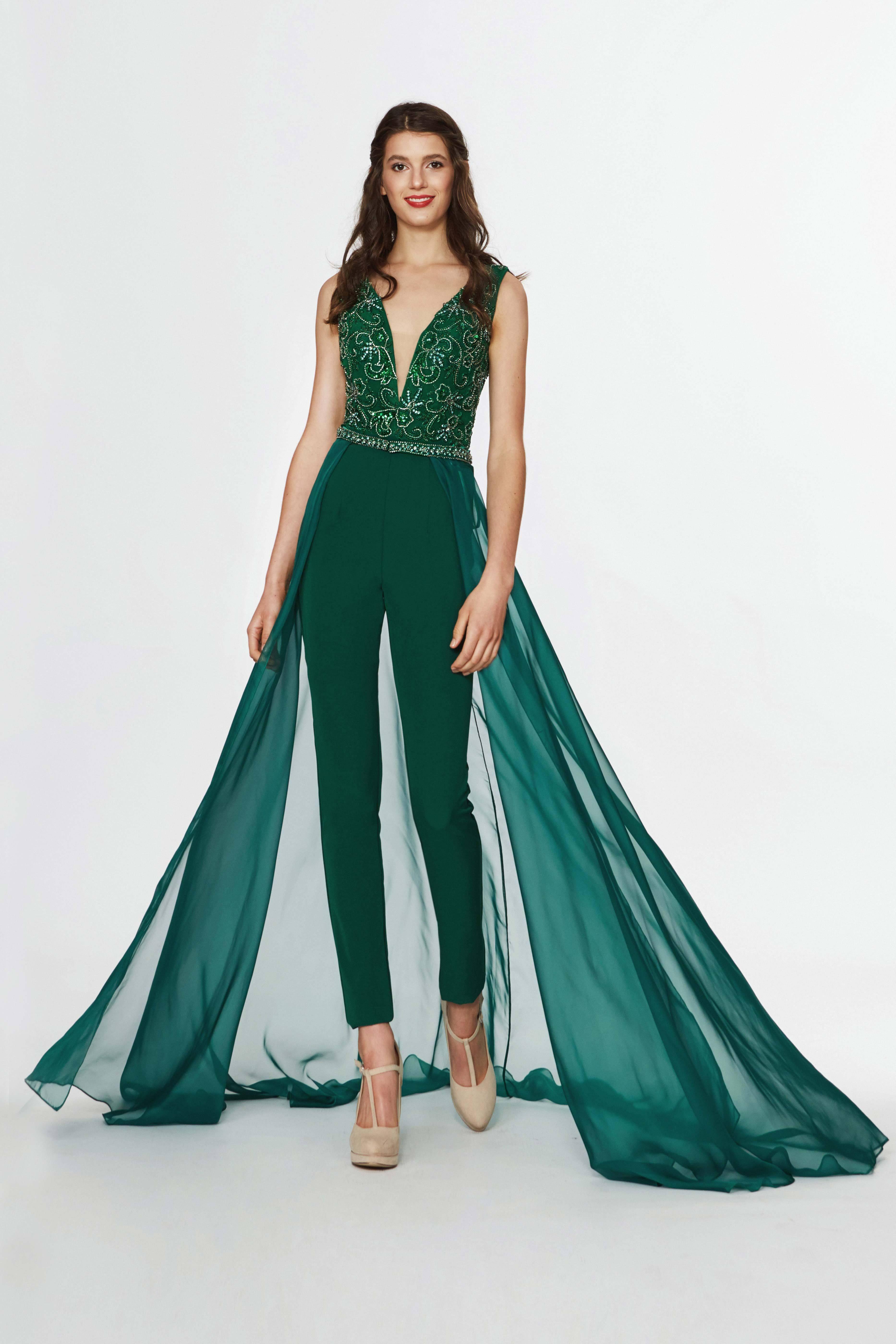 Angela Alison 91131 Embellished Deep V Neck Fitted Jumpsuit In 2021 Jumpsuit Prom Dress Jumpsuit Elegant Fashion [ 5597 x 3732 Pixel ]