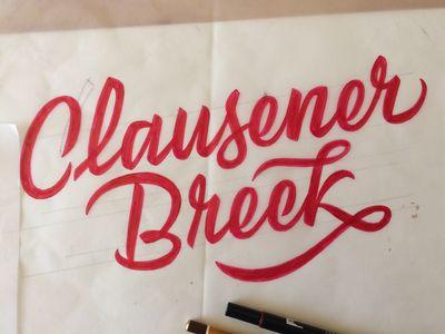 Clausener Breck Lettering Sketch