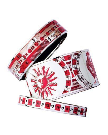 Hermes enamel bangle bracelets