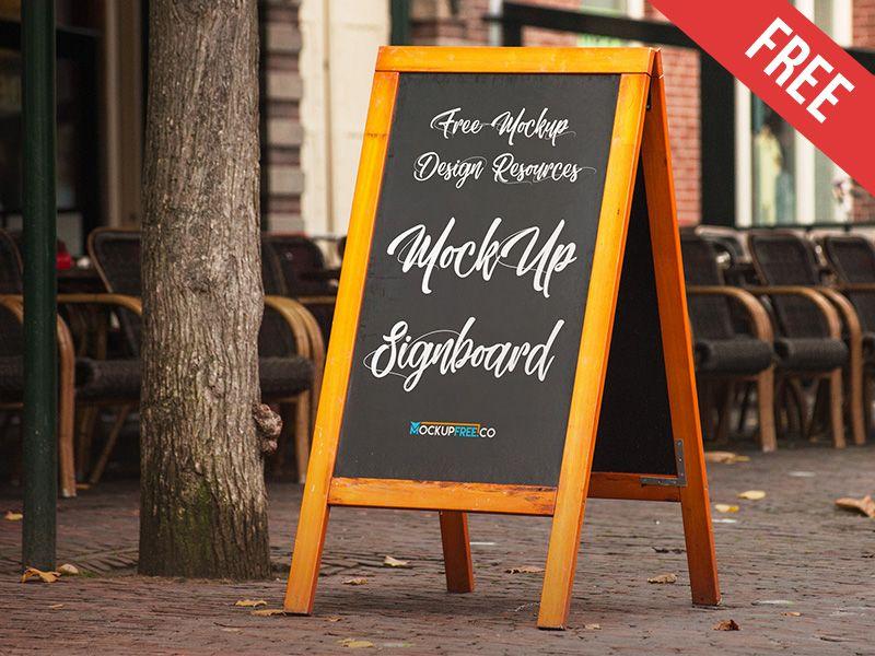 Signboard Free Psd Mockup Mockup Free Psd Signboard Free Mockup