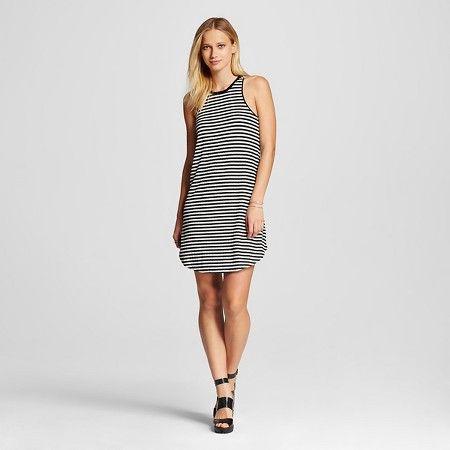 f98eb87ee0 Women s Striped Tank Dress Black White Stripe - K by Kersh   Target ...