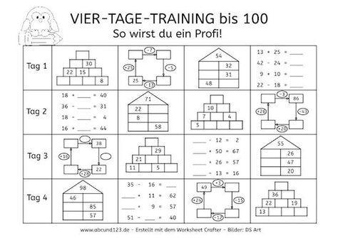 vier tage mathe training zahlenraum bis 100 schule montessori math spiral math und math. Black Bedroom Furniture Sets. Home Design Ideas