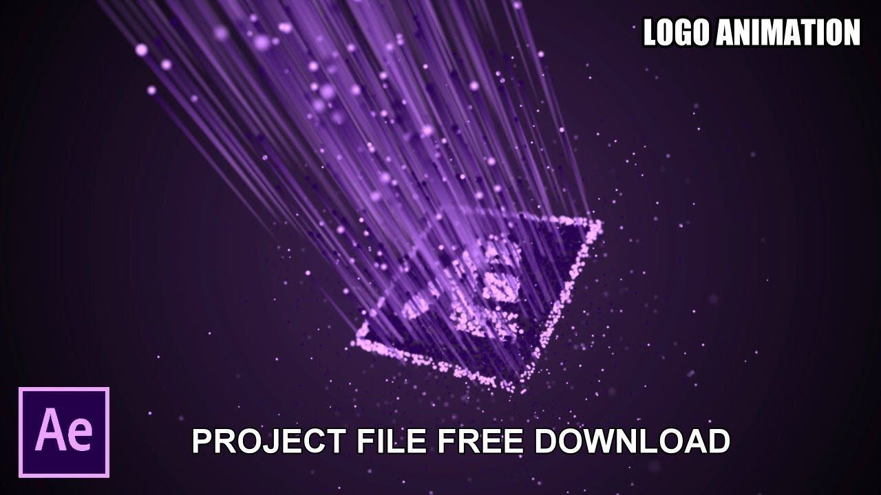After Effects Tutorial Particle Logo Animation Project Free