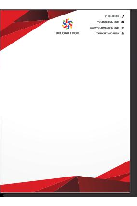 Online Letterhead Printing Custom Letterheads Design Templates