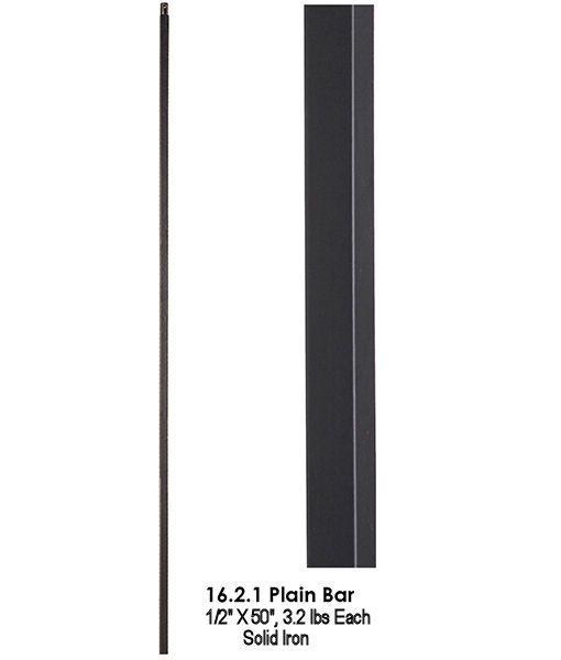 Best Hf16 2 1 50 50 Straight Bar Iron Baluster Satin Black 640 x 480
