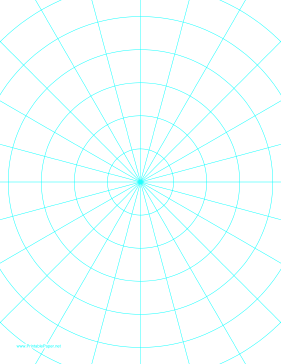 This LetterSized Polar Graph Paper Has Degree Angles And One