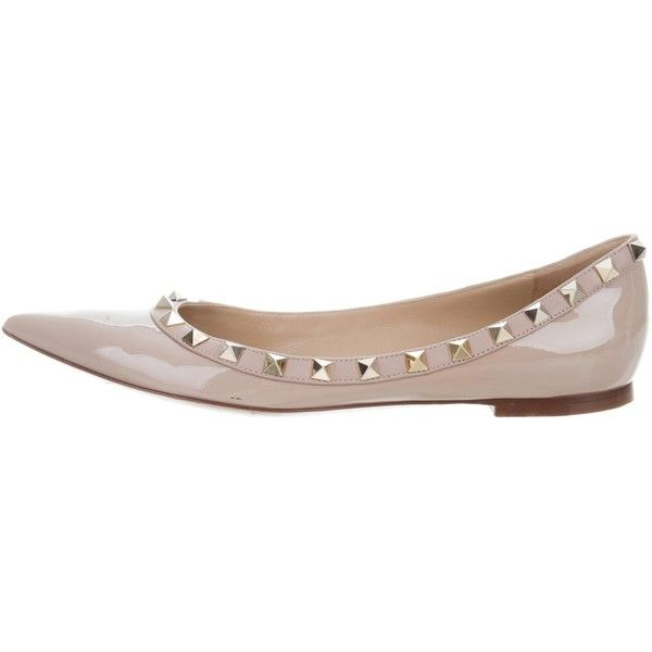 Pre-owned - Rockstud patent leather ballet flats Valentino