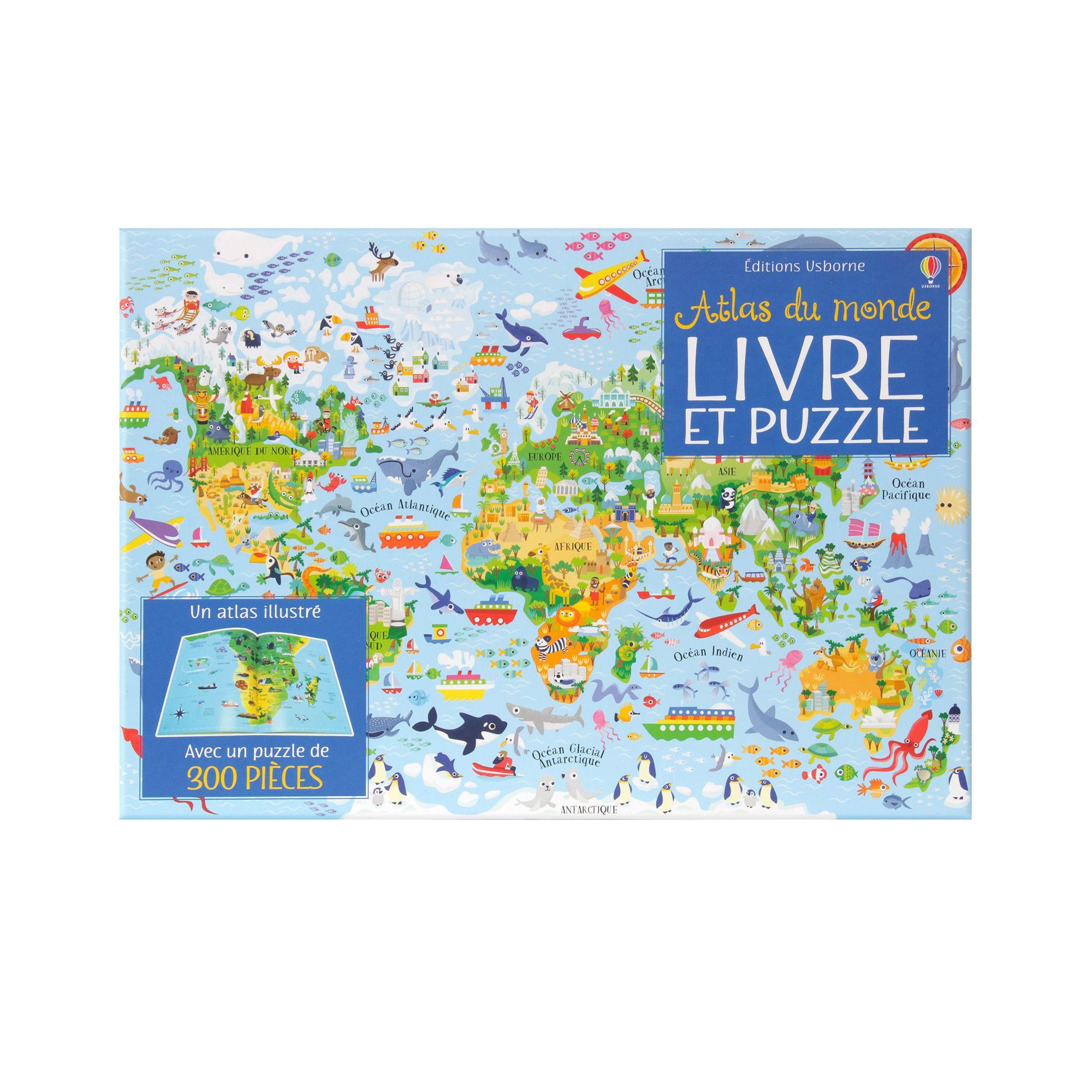 Atlas Du Monde Livre Et Puzzle