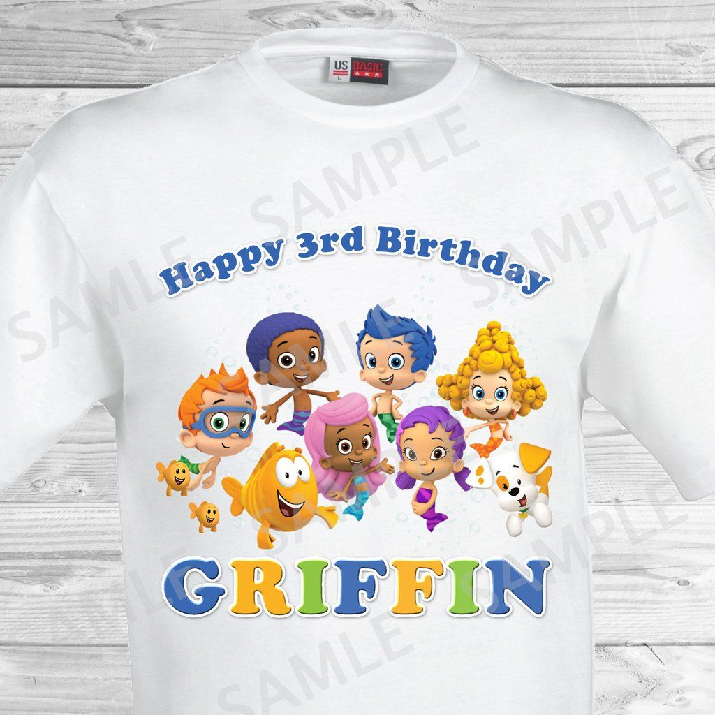 Bubble Guppies Birthday Iron On Transfer. Bubble Guppies Shirt ...
