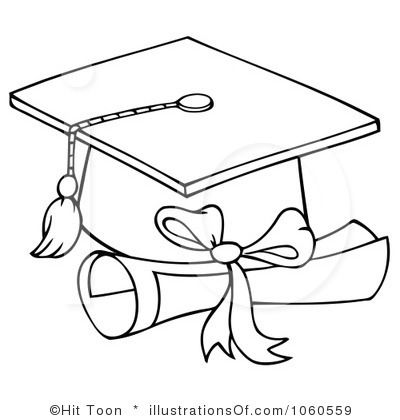Graduation Hat And Rolled Diploma Decoracion De Graduacion