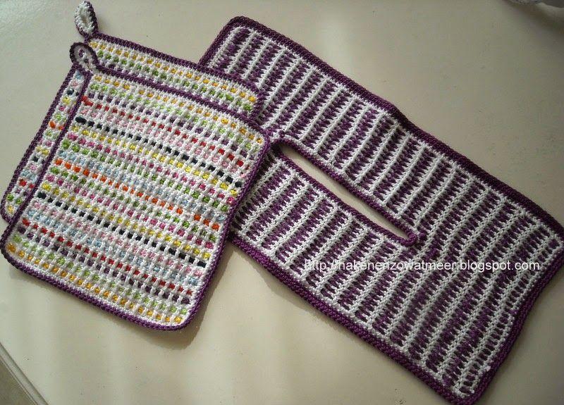Pannenlap Pannenlappen Haken Crochet Crochet Potholders En