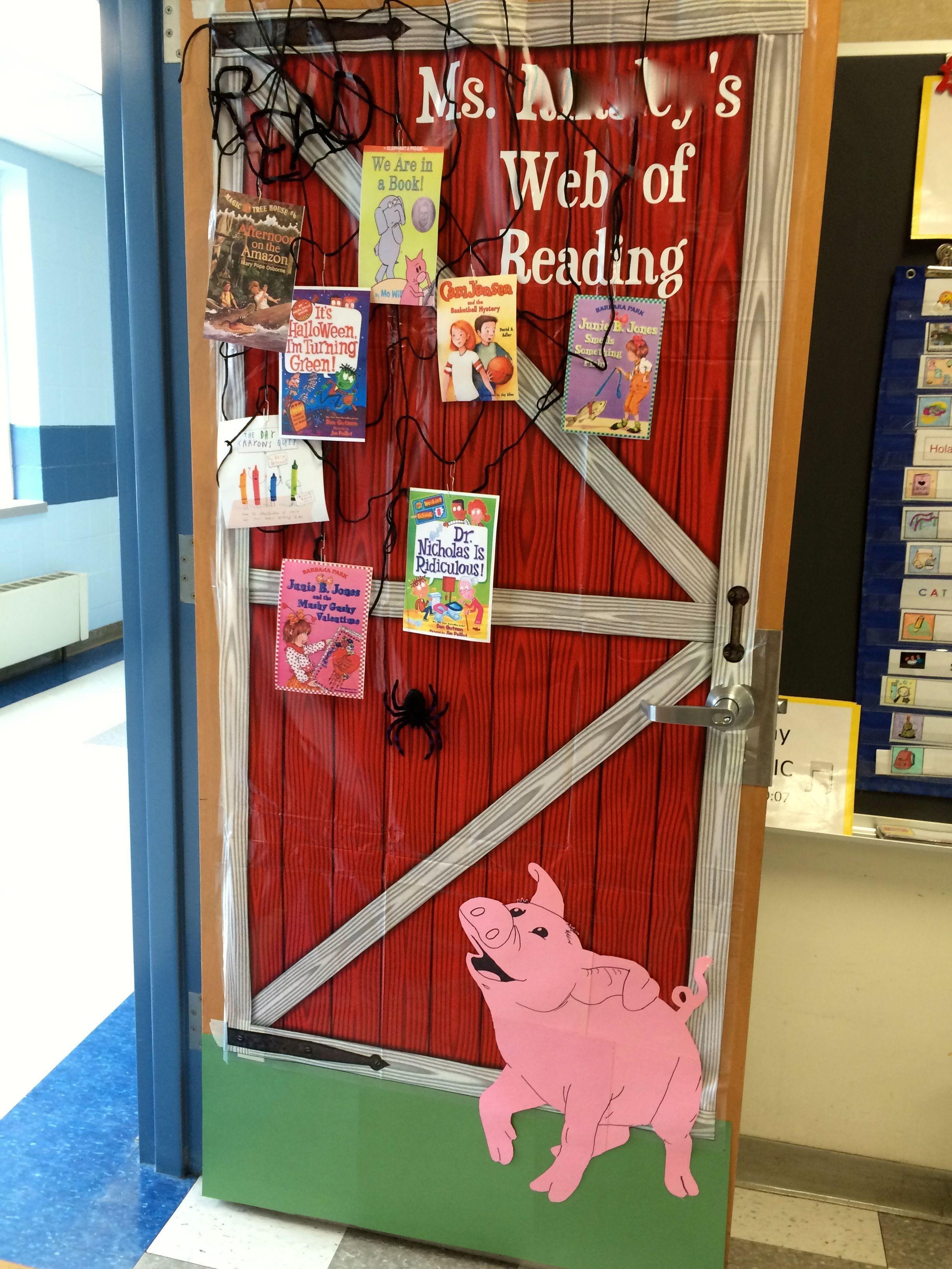 Classroom Decor Websites : Charlotte s web inspired classroom door decoration