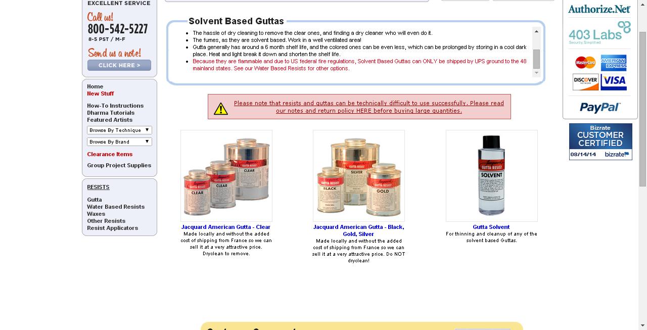 Solvent Based Guttas