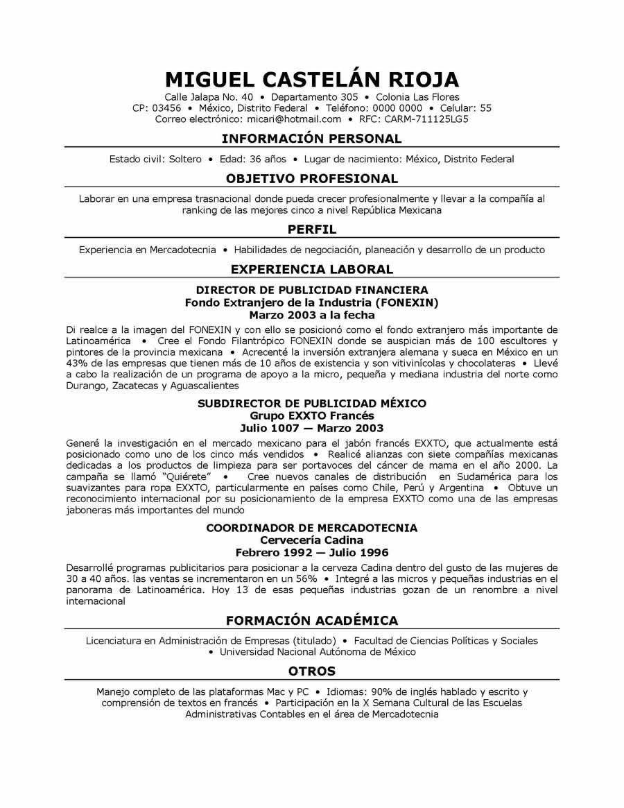Resume Examples In Spanish #examples #resume #ResumeExamples ...