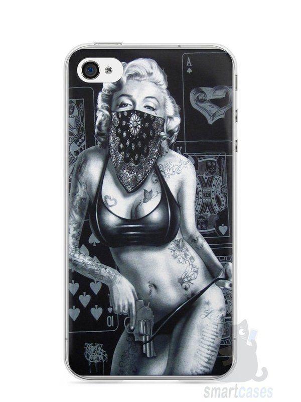Capa Iphone 4/S Marilyn Monroe #3 - SmartCases - Acessórios para celulares e tablets :)