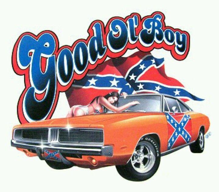General Lee Los Dukes De Hazzard Camion Dibujo Bandera Confederada