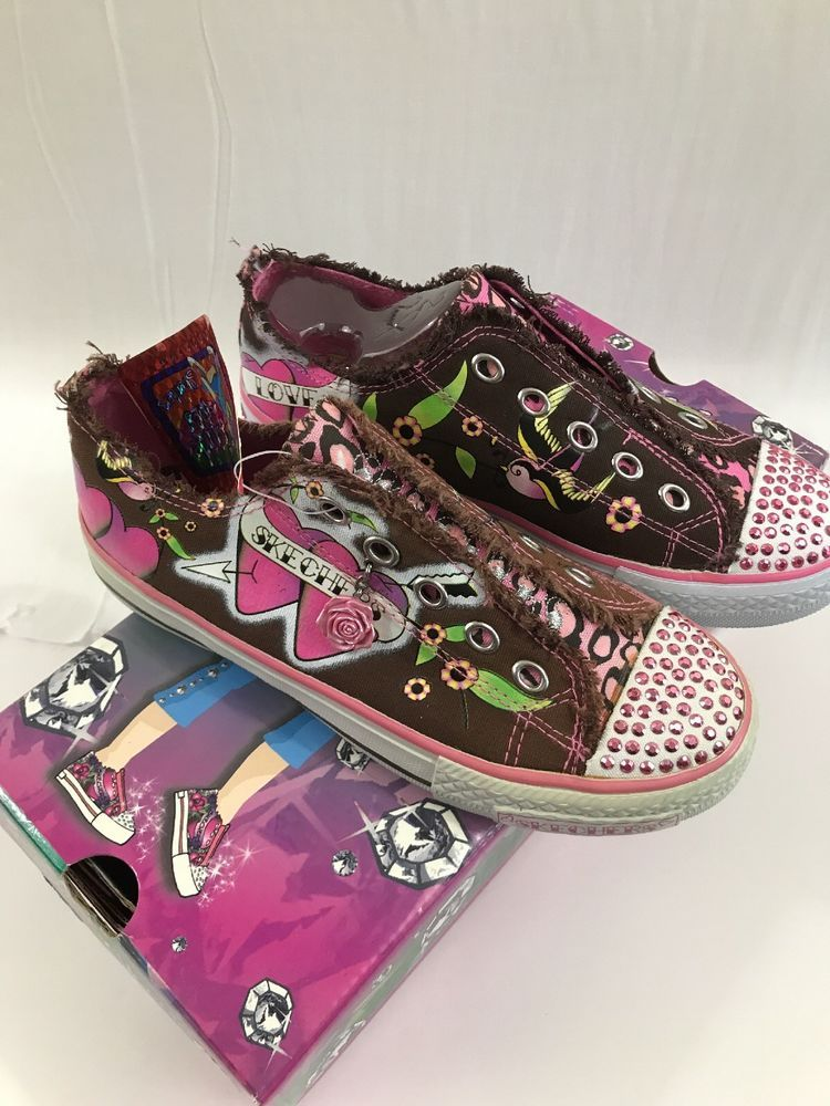 Skechers Twinkle Toes Girls Athletic Shoes Size 2 5 New Ebay