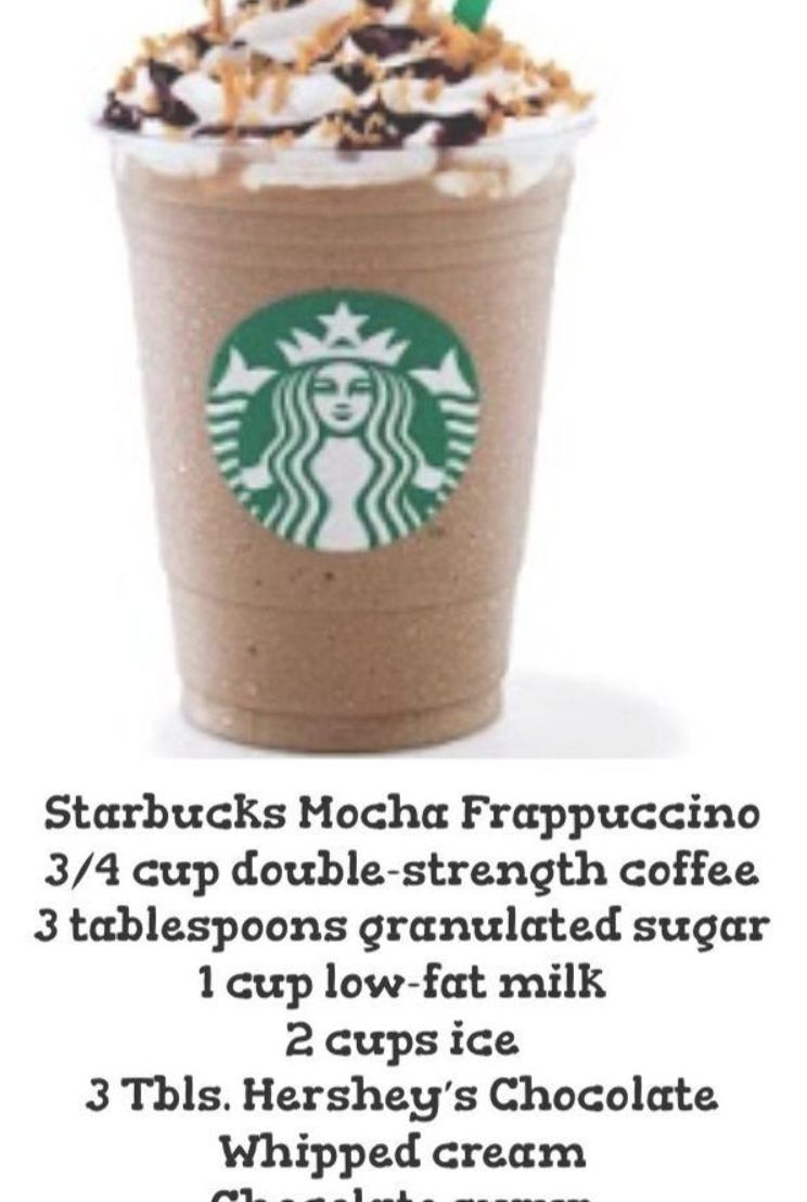 Ways To Make A Starbucks Mocha Frappuccino Wikihow How To Make A Starbucks Mocha Frappuccino If Youv Frappe Recipe Starbucks Recipes Starbucks Drinks Recipes