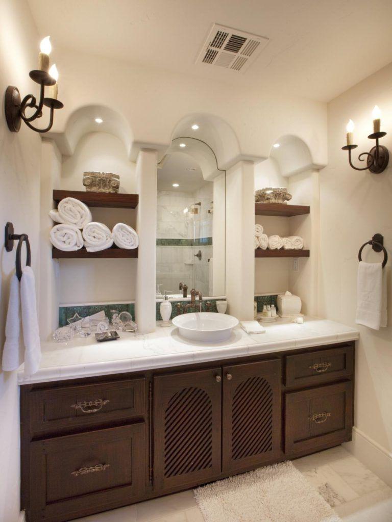 Bathroom towel shelf ideas bathroom decor pinterest bathroom
