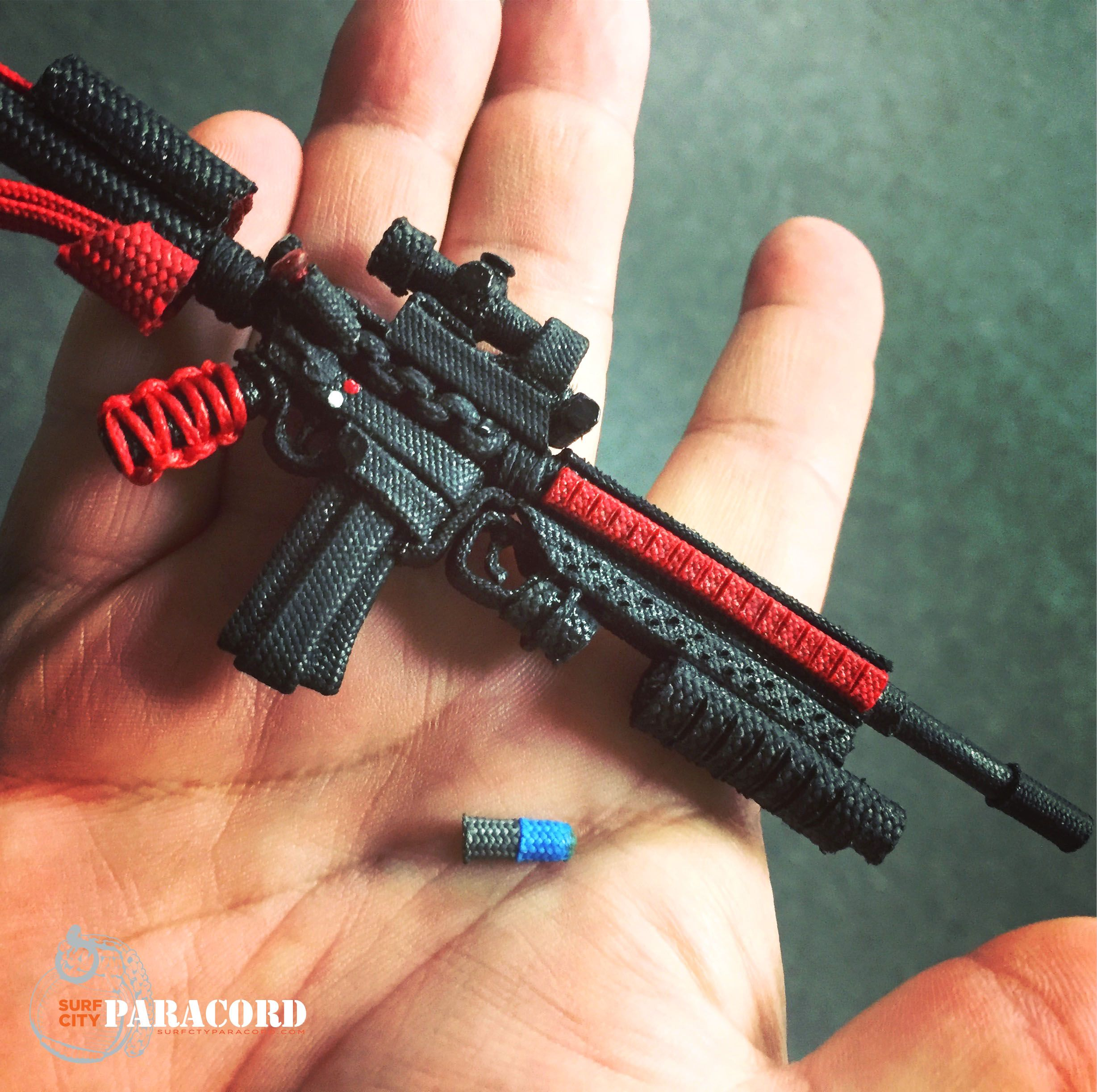 Miniature #ar15 replica made out of #paracord  | Best of