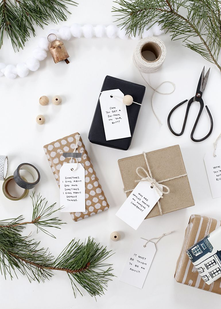 DIY Quote Gift Tags The Merrythought