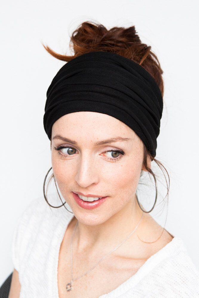 Black Headband Wide Headband Yoga Headband Boho Headband Running Headband Womens Hair Accesso Black Headband Wide Headband Yoga Headband Boho Headband Running Headband Wo...
