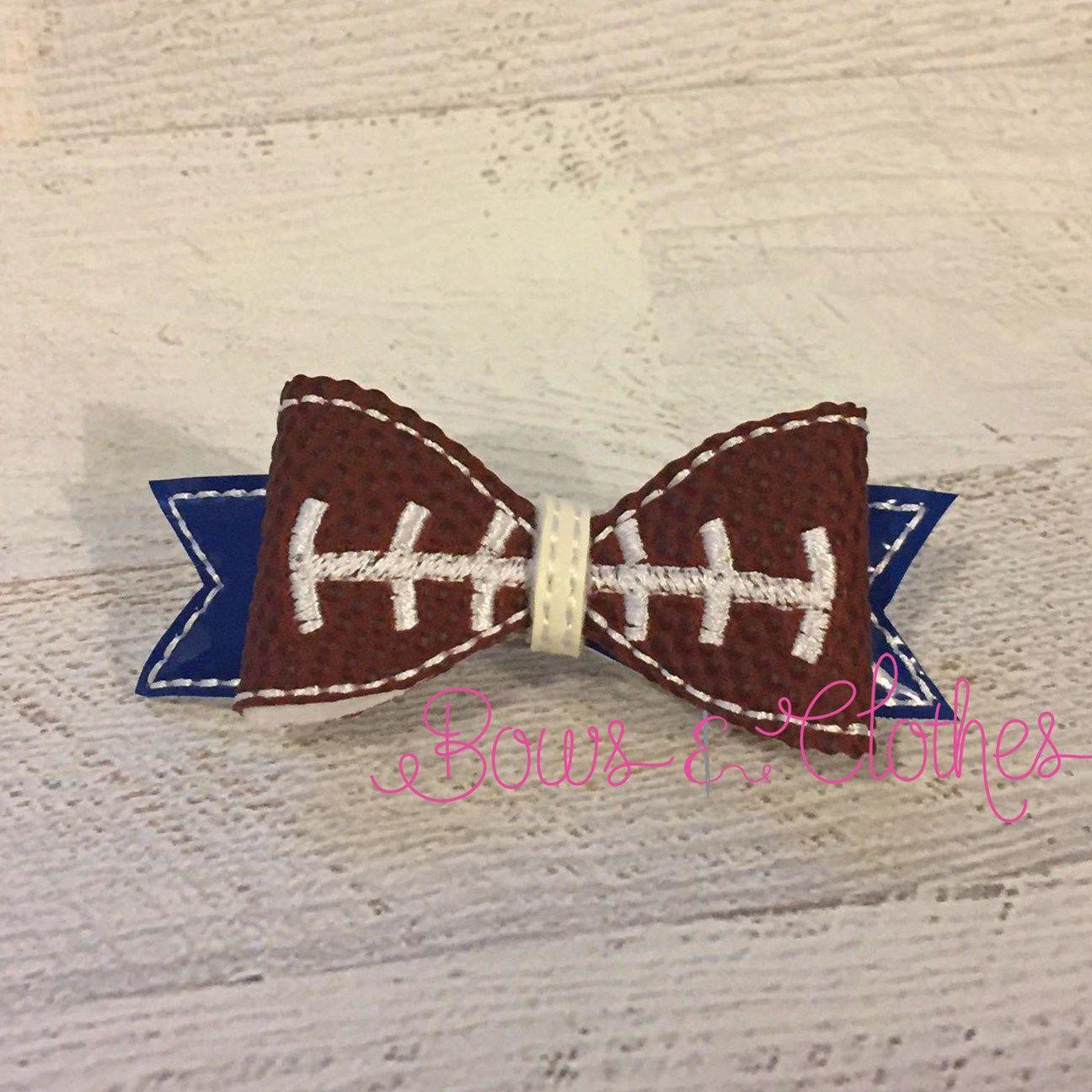 Football Lines Bow Bows, Diy hair accessories, Bow hair