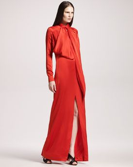 Givenchy Slit-Front Satin Gown, 212 872 8747