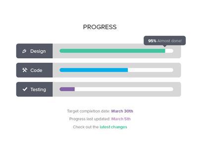 40 Progress Bar Designs for Inspiration