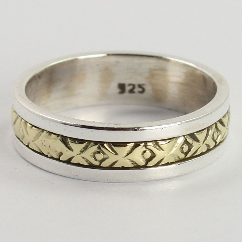 Silver Band Ring Marked 925 Size 6 US