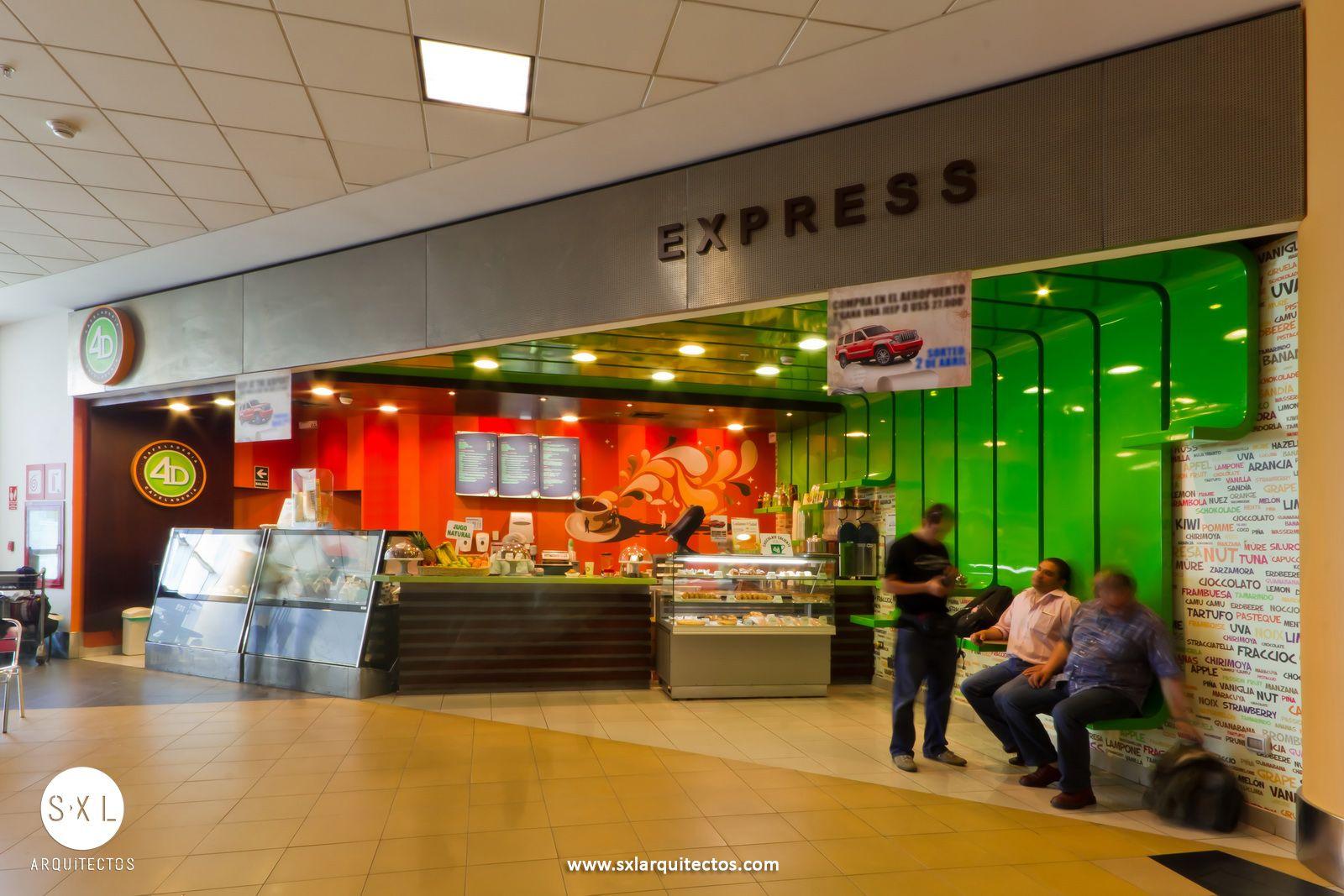 Dise o de caf helader a 4d express en el aeropuerto for Diseno de interiores lima