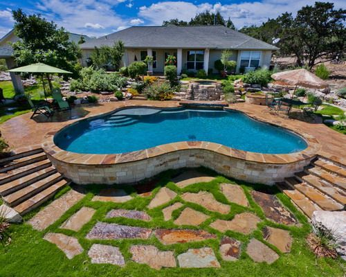 Swiming Pools Above Ground Pool Deck With Green Outdoor Umbrellas Also  Stainless Outdoor Chair And Metal Patio Table Besides Outdoor Flooring Tile  ...
