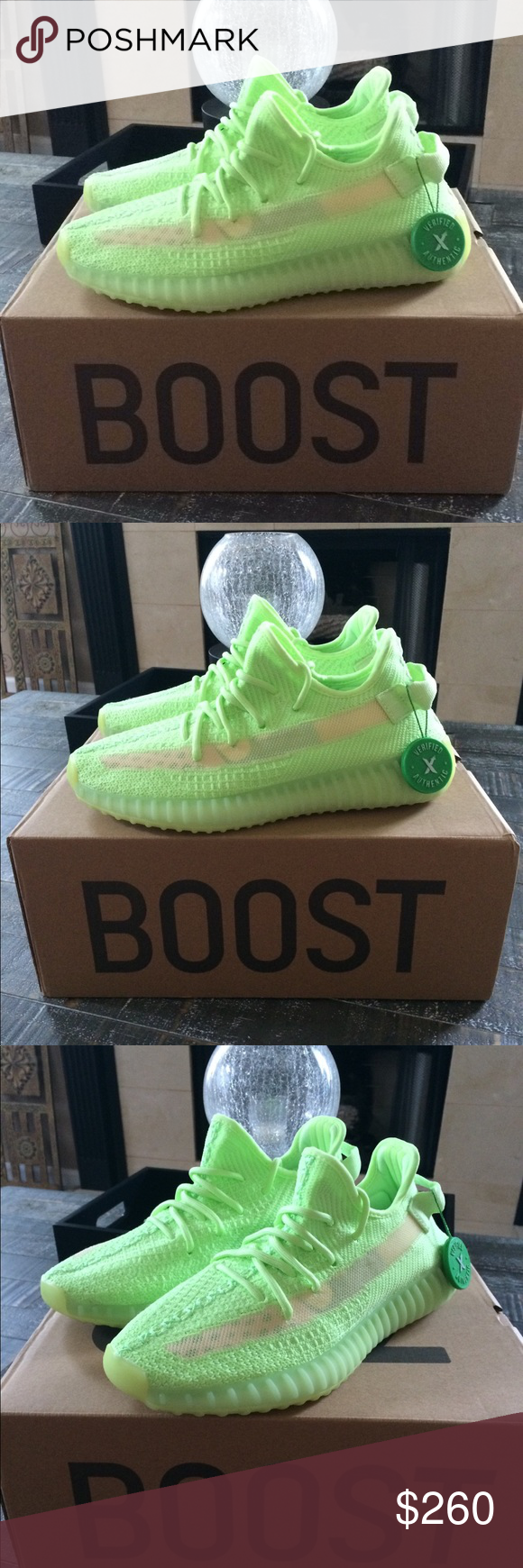 Men's Adidas Yeezy Boost 350 V2 Glow Size 7 NEW Brand new