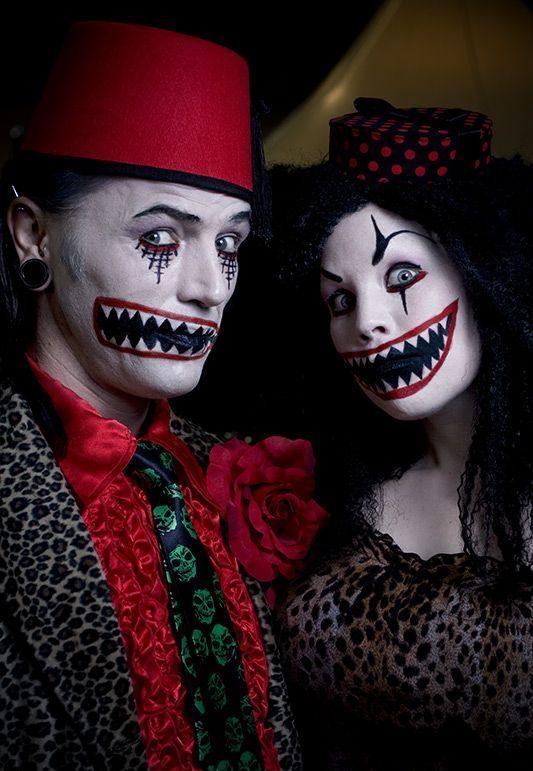 bildergebnis f r halloween couples makeup happy halloween pinterest maquillaje halloween. Black Bedroom Furniture Sets. Home Design Ideas