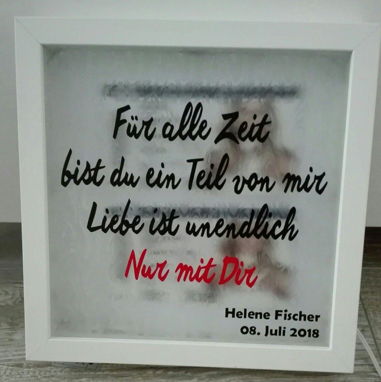 Ribba Rahmen Gutschein für nen Helene Fischer Konzert. Teil des ...