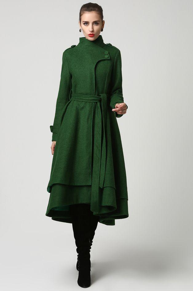 Lange Mäntel elegant Wolle Langes Mantel (1112) ein