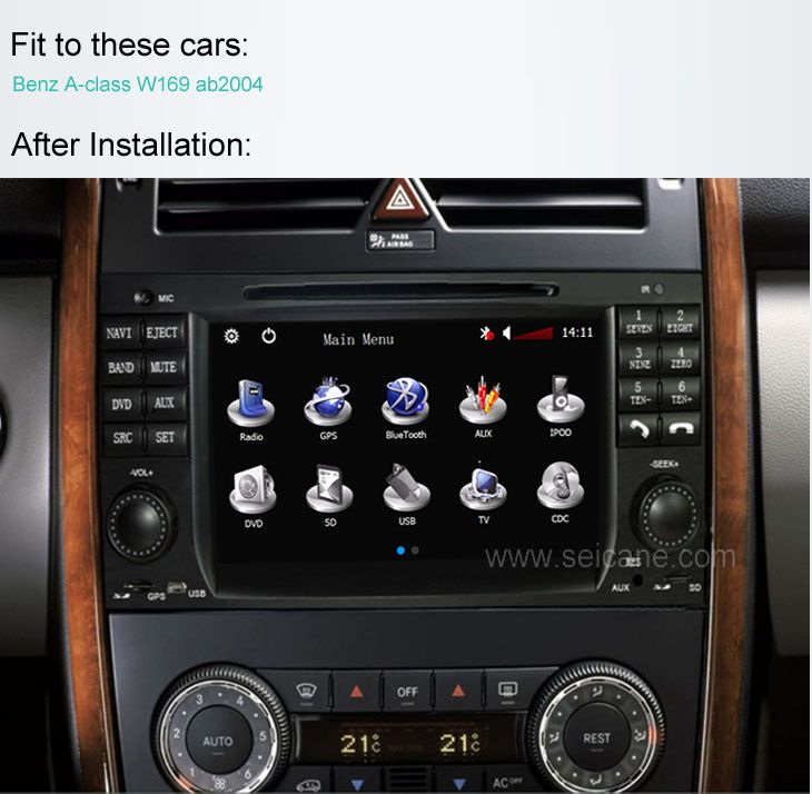 Car Dvd Player For Benz A Class W169 With Gps Radio Tv Bluetooth Http Www Seicane Com Car Dvd Player For Benz A Cla Car Dvd Players Benz A Class Dvd Player