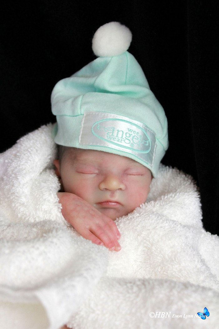 Reborn Preemie Baby Jackson 14 Inch Boy With Open Mouth