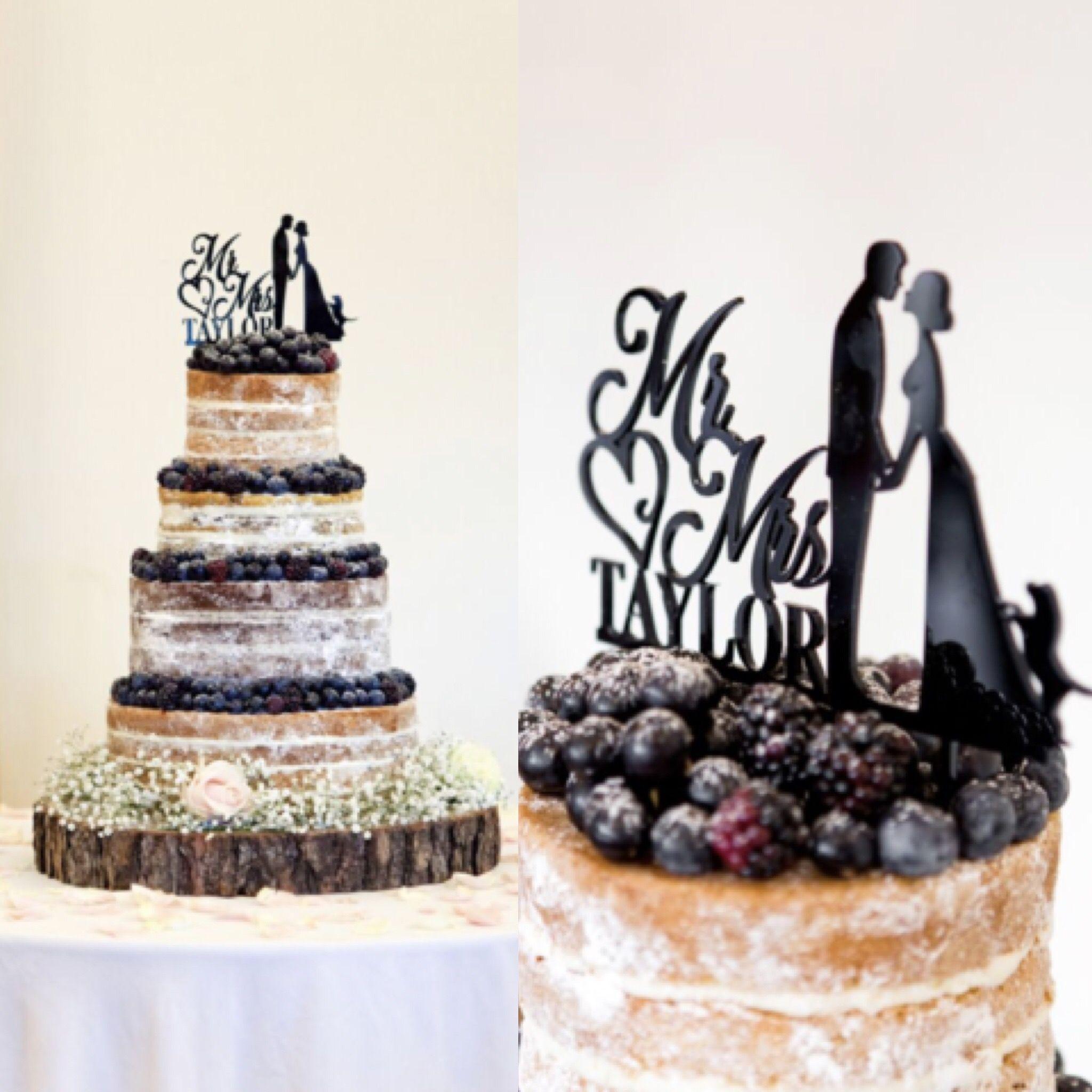 All purple berry naked wedding cake