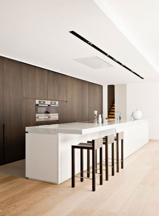 37 Functional Minimalist Kitchen Design Ideas DigsDigs Interiors - Cocinas Integrales Blancas