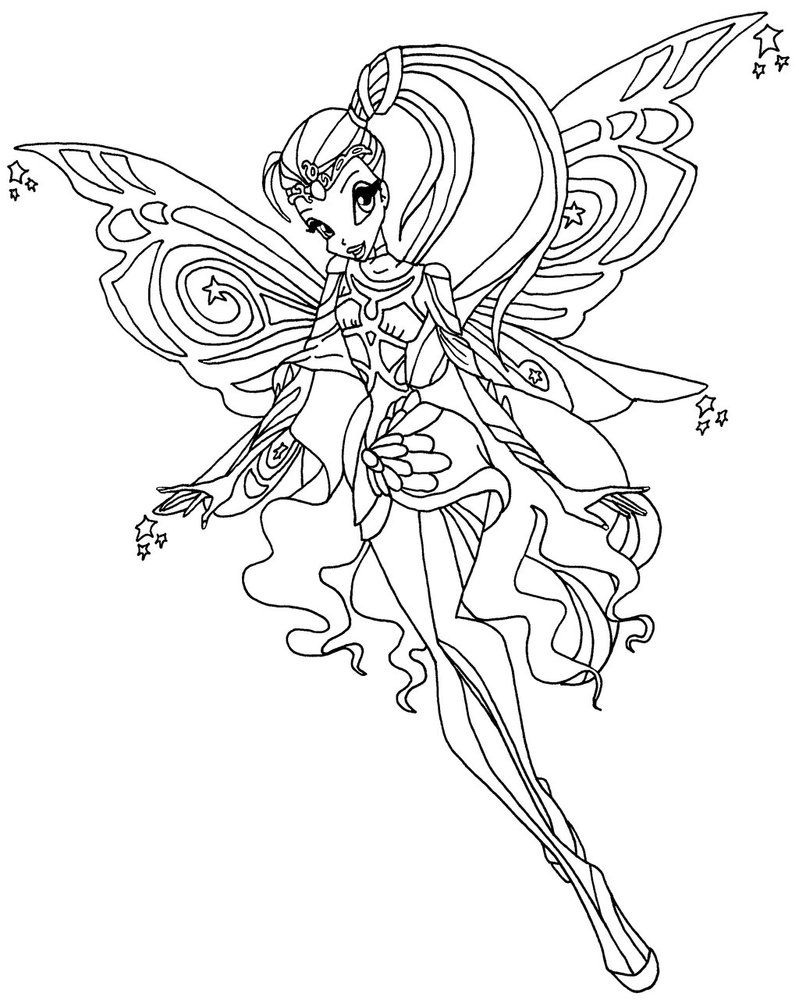 A Coloring Page Of Stella Amp Nbsp In Her Bloomix Transformation From Season 6 Of Winx Club Colorir Barbie Desenhos Pra Colorir Desenho