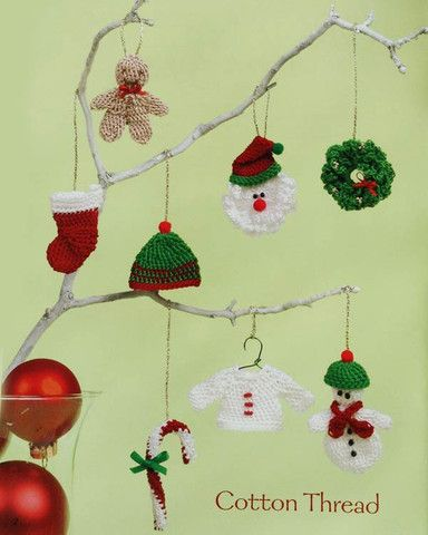 Ornaments To Crochet 3 Ways - Oh, what fun it is to crochet a sleighful of festive Christmas ornaments! Create these happy designs in three different sizes with worsted weight yarn, sport weight yarn, or cotton thread. And because these designs are simple, you can make plenty of decorations before the holidays arrive! Available from Maggie's Crochet