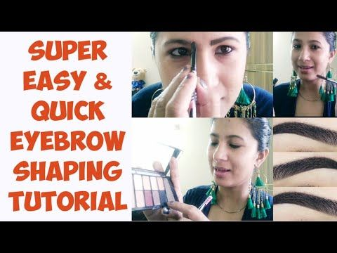 DIY PERFECT EYEBROW TUTORIAL - NO THREADING TWEEZING - BROW SHAPING GROOMING AT HOME - BROW MAKEUP #eyebrowstutorial