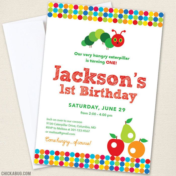 Very Hungry Caterpillar Party Invitations   Caterpillar, Party ...