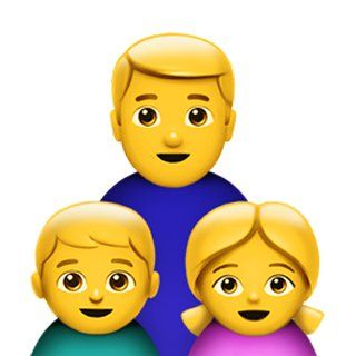 Single Dad Family Single Dads Emoji Dads