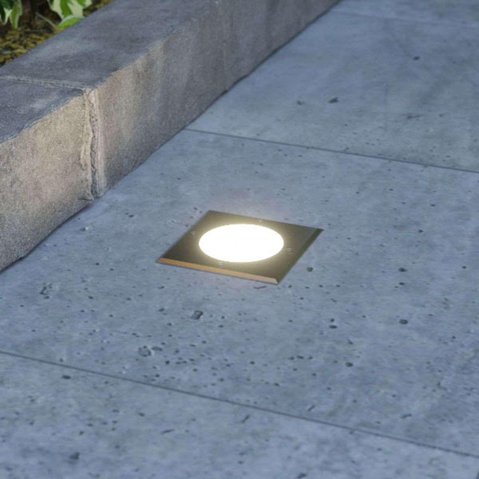 Spot Encastrable Dans Le Sol Led Doris Carre Spot Encastrable Lampe Exterieur Et Led